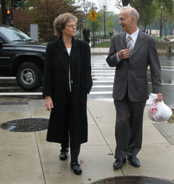 Leslie Kean and Iranian General Parviz Jafari in Washington, DC