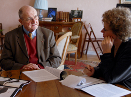 Kean interviews French Major General Denis Letty at his home outside Paris
